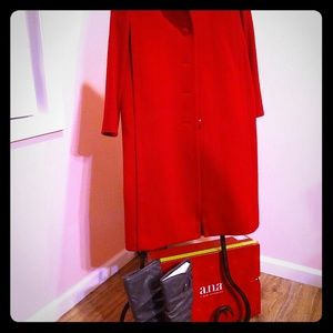 Jackets & Blazers - Neiman Marcus Red coat, a. n. a. Boots